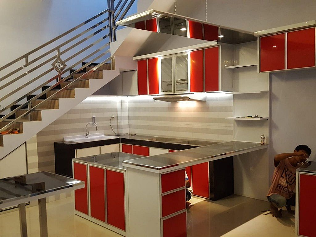 Kitchen set sederhana untuk dapur kecil 081231161250 kitchen set stainless surabaya kitchen set si